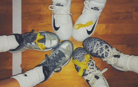 All players wore yellow ribbons on their shoes or in their hair in order to show their support for childhood cancer and Cannella.