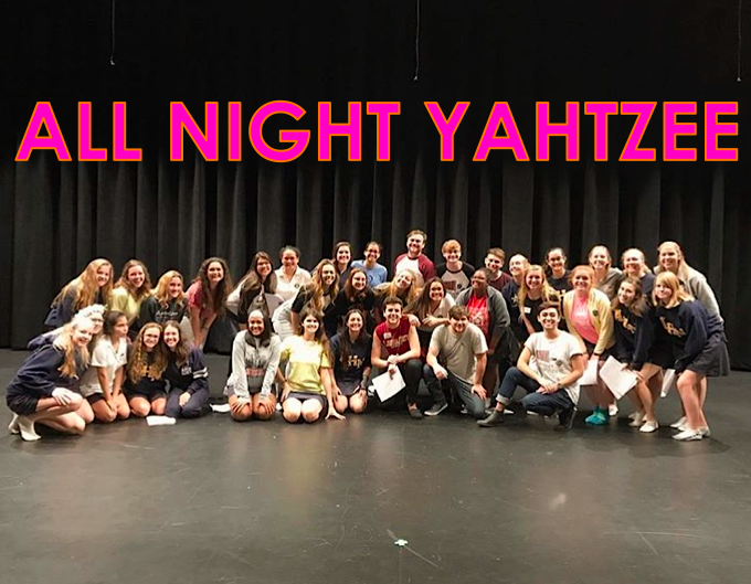 In 2017 All Night Yahtzee placed 3rd at The BOSS, an a-cappella festival and they were a CARA Nominee for Best Mixed Collegiate Arrangement.