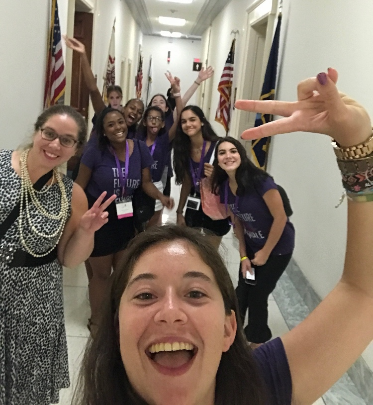 In the summer of 2017 Palumbo traveled to Washington D.C. to lobby for bill 2408, which supports refugee education.
