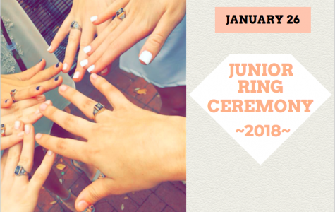 A junior ring tradition is that after the juniors receive their rings, the sophomores create an arch above the juniors head with yellow roses, and the juniors are handed a rose by a sophomore as they walk down the aisle exiting the ceremony.