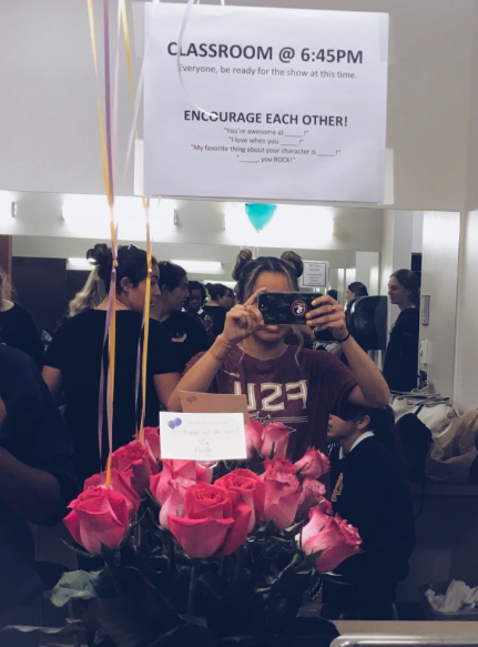 Although tech week was stressful for most of the cast, Mr. Porter bought his class flowers and put up inspiring signs in their dressings rooms to keep a positive aura within the group of actors.