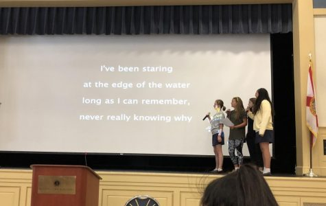 Sophomores performed karaoke to a Disney song from he movie Moana (Photo Credit: Caitlin Weaver/ Achona Online).