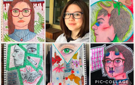 """The most common thing that people ask me is if I use markers, which I don't. I use color pencils and pens with all of my drawings,"" says Bailey."