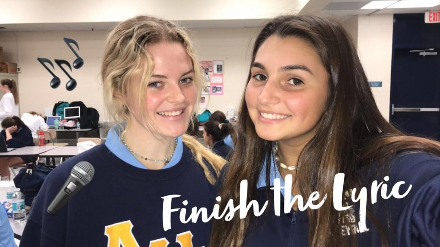 Seniors, Hannah Smallwood and Megan Scanlan, created this game during study hall and loved it so much that they had to share it with their sisters!