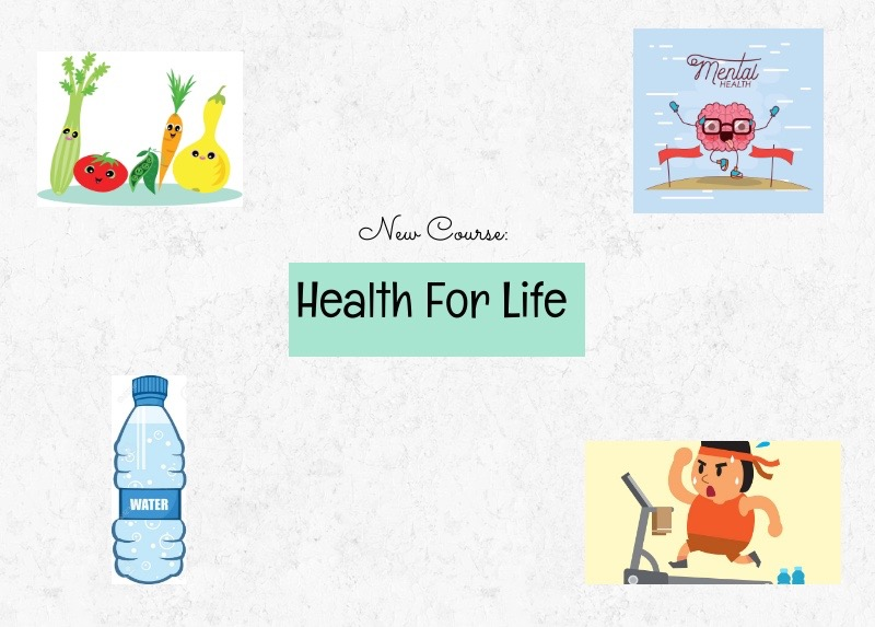 Health For Life covers five main elements of health: physical, emotional, spiritual, social, and mental.