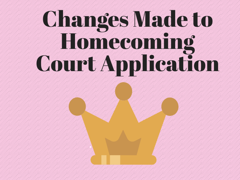 One of the biggest changes to the Homecoming Court application, is that applicants do not have to submit a video.