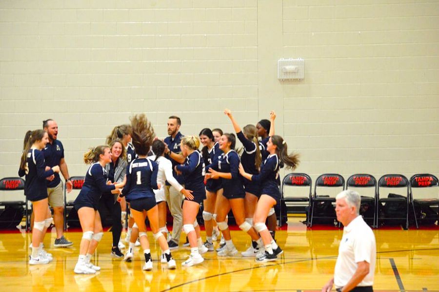 The Academy Varsity Volleyball Team attended three tournaments this season.  (Photo Credit: Juliet Crowley/ Used with permission)