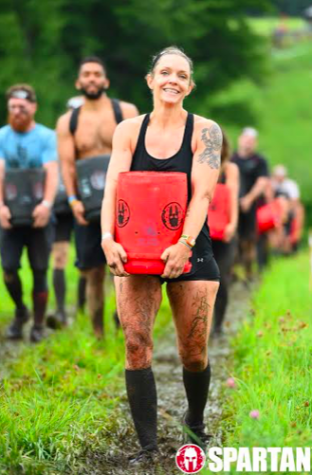 Photo credit: Katherine Rodriguez/Achona Online Dobrin completed in the Spartan obstacle race in October of 2018.