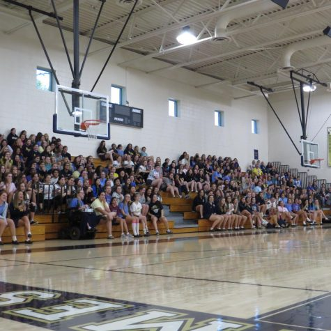 This year's first pep rally took place on Friday, November 9. It was a fun-filled afternoon in recognition of the fall and winter sports with participation fro every grade level.