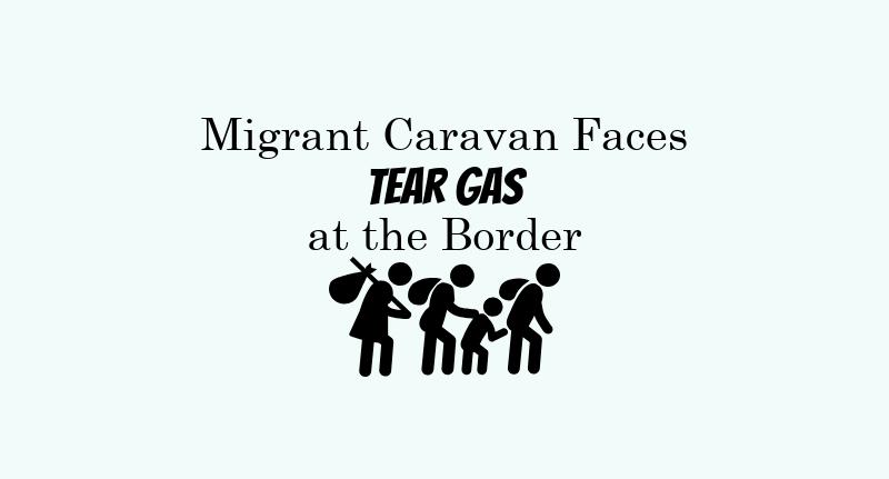 The members of the caravan consist of migrants from El Salvador, Guatemala, and Honduras.