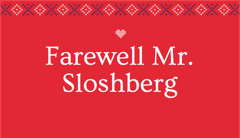Paul Sloshberg has announced his retirement.