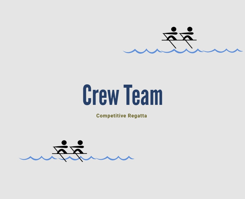 The crew team competes in two separate seasons: fall and spring.