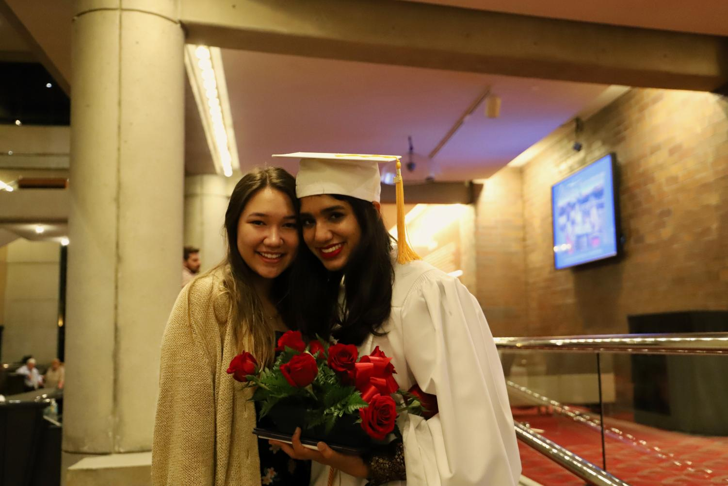 Senior+class+president+Hira+Khan+%28%2719%29+will+be+attending++Wellesley+College+in+the+fall.