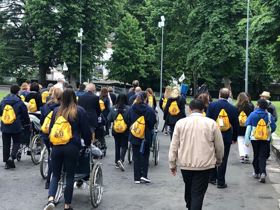 Student Sahar Bueno-Abdala ('21) visited Lourdes, France with a service group of around 100 participants from Miami, Florida.