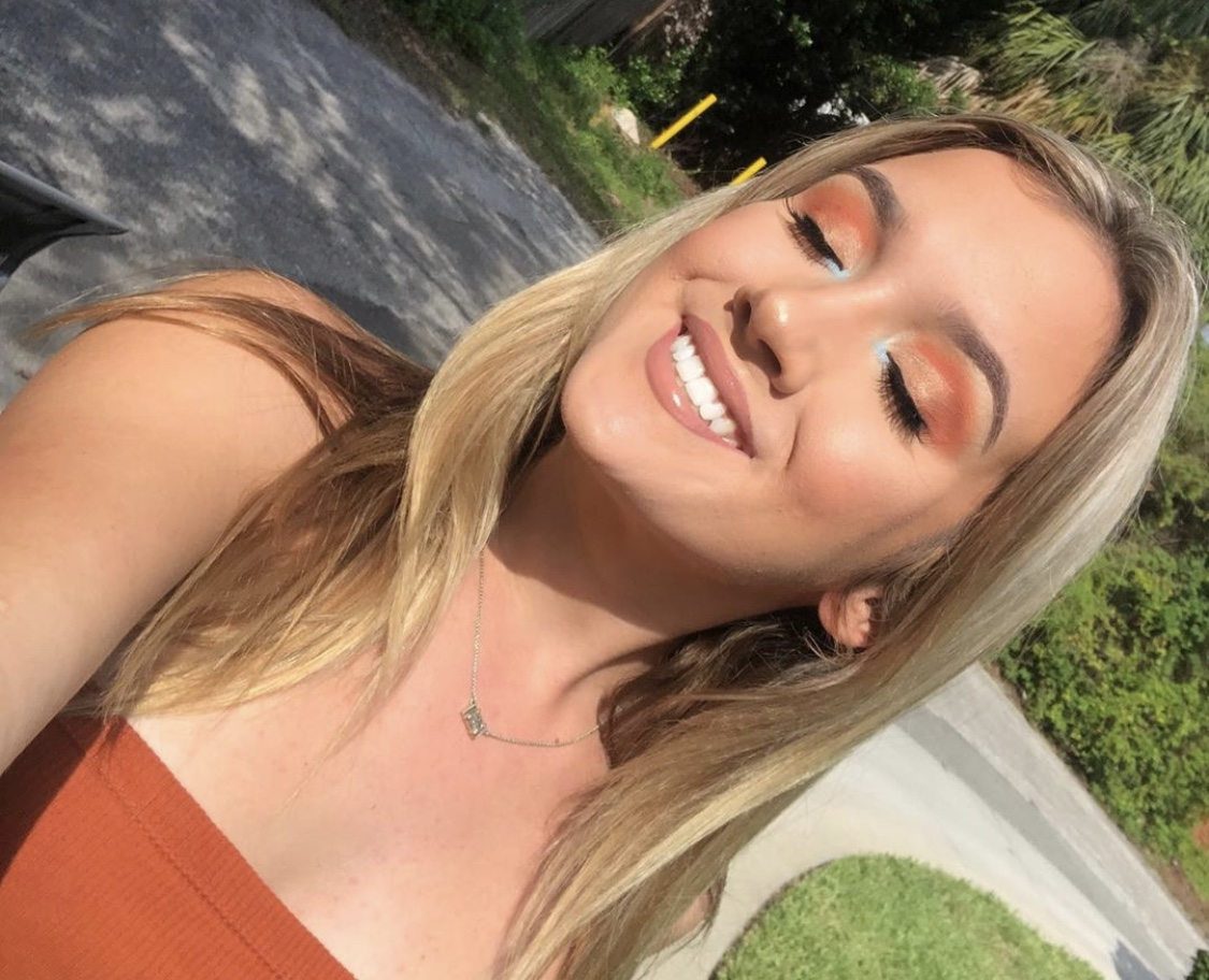 Joely Barkett '20 used her favorite pallet, Blood Sugar by Jefree Star, for this look.