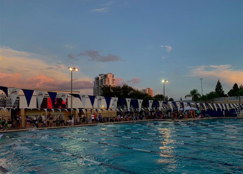 55 girls make up the AHN swim team that faced off against Steinbrenner.
