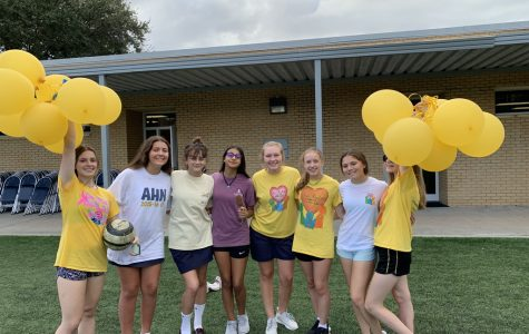 "Alex Fanaro('22) said, ""I helped run the golfing activity. It was a lot of fun to hang out with my old middle school teachers. I enjoyed hanging out with all my friends. I also laughed really hard when the teachers were pied."""