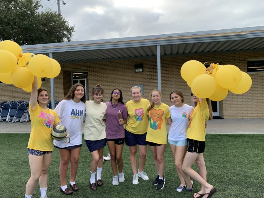 """Alex Fanaro('22) said, """"I helped run the golfing activity. It was a lot of fun to hang out with my old middle school teachers. I enjoyed hanging out with all my friends. I also laughed really hard when the teachers were pied."""""""