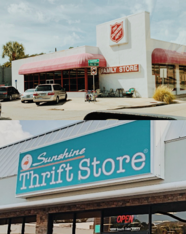The Salvation Army and Sunshine Thrift Store are two popular thrift stores in the Tampa Bay Area. Photo Credit: Hope Joffray/ Achona Online