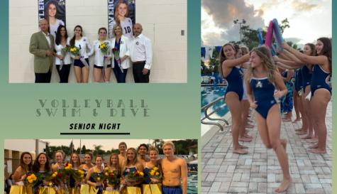 Volleyball & Swim Teams Celebrate Senior Night