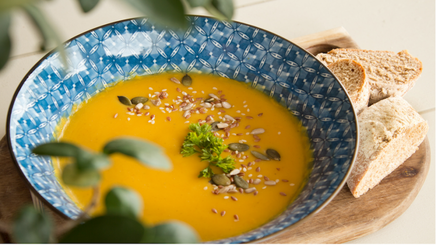 This easy vegetarian Thai pumpkin soup recipe can add a little comfort to the upcoming fall season.