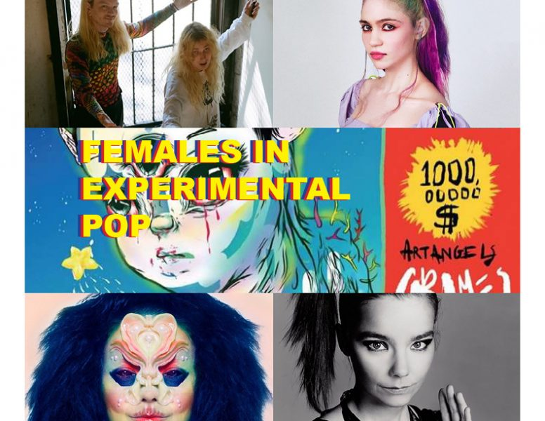 Three of the most prominent female figures in experimental pop: Laura Les, Grimes, and Björk.