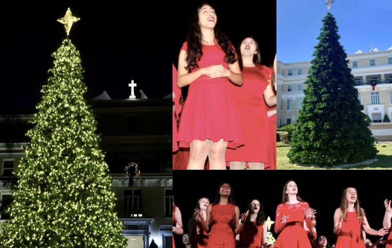 The Annual Christmas Tree Lighting resulted in a large attendance this year, allowing AHN students to spread Christmas cheer and bring the community together.