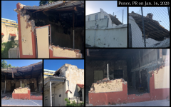 On Jan. 16, 2020, James-Rodil's uncle — Roberto Rodil — took pictures in Ponce, Puerto Rico, where several buildings have been destroyed.