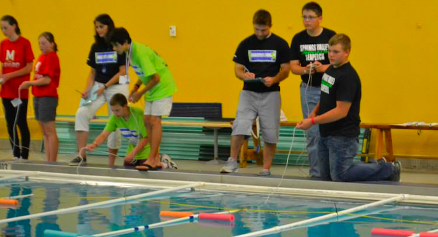 Students from 6th grade to college freshmen compete at various local SeaPerch challenges; depending on how well a team does, they may be invited to compete at SeaPerch Nationals.