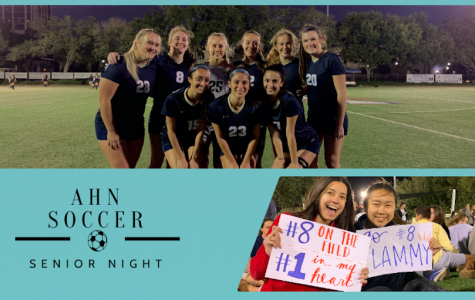 The AHN varsity soccer team celebrated their annual senior night honoring their nine seniors.