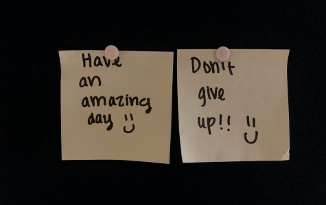 As mentioned in a previous article written by Adriana James-Rodil, these notes have been posted around AHN's campus by anonymous girls, meant to make peoples' day a little brighter.