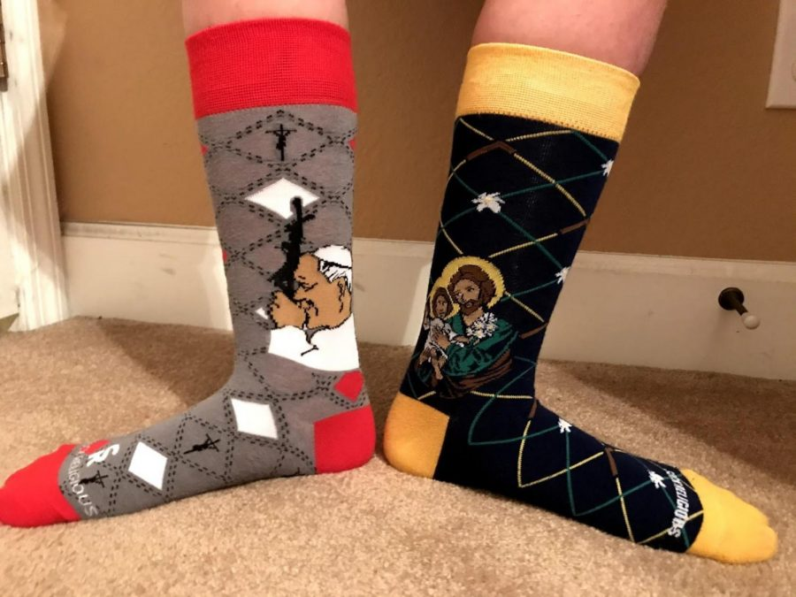 Sock Religious also has links to Catholic Saint themed shirts from That One Sheep.