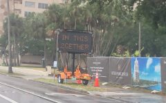 The City of Tampa has posted inspiring messages across Bayshore reminding people to stay positive and continue to social distance.