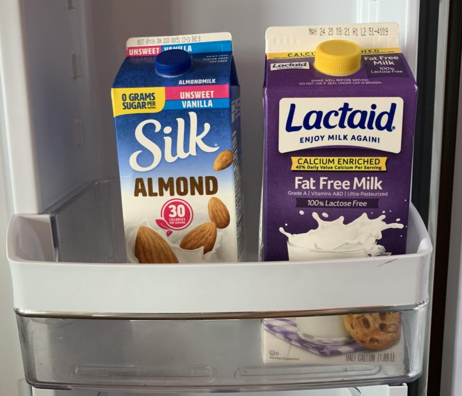 I like the taste of almond milk better than regular milk, so that what I have at my house, says Jane Ruppel (22).