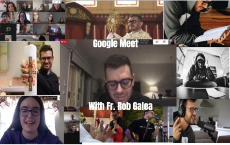 Fr. Rob Galea joined Academy students and teachers on Google Meet to pray the rosary with them and answer some of their questions.