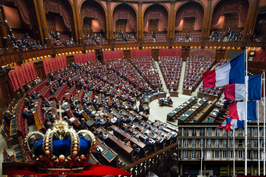 This is likely what the Estates-General Convention would have looked like. The speaker sat in the center of the room, with the members seated according to their views.