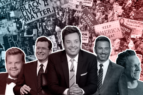 Since the 2016 presidential election, ratings have dropped for late-night shows as content shifts from its traditional comedy to political commentary.