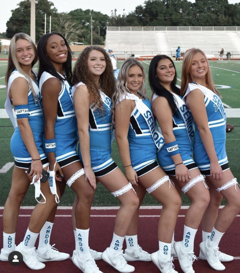 The seniors were so excited to celebrate 4 years of Jesuit Cheerleading.