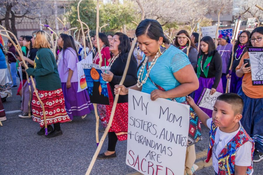 Indigenous women protest discrimination and oppression, which many believe is fueled by the celebration of Columbus Day.