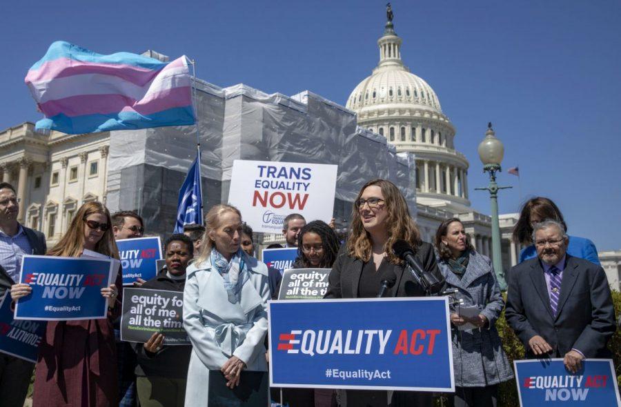 State senator Sarah McBride introduces the Equality Act on April 1st, 2020.