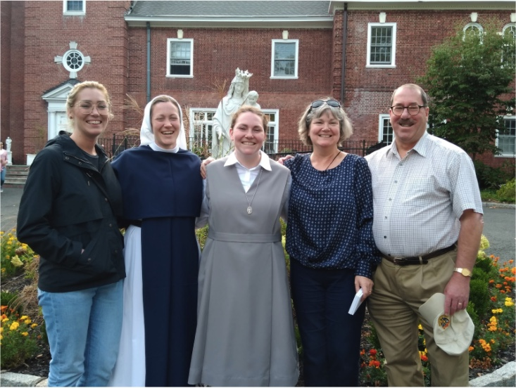 Sr. Léonie Thérèse and Sr. Anne Weis with their family.