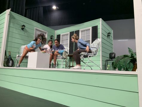 "AHN theater rehearses their fall play ""Savannah Sipping Society"""