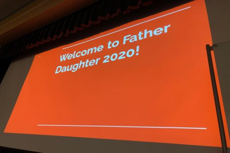 The father-daughter trivia night was held in the Brady Center.