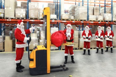 Workers during a shift on Christmas