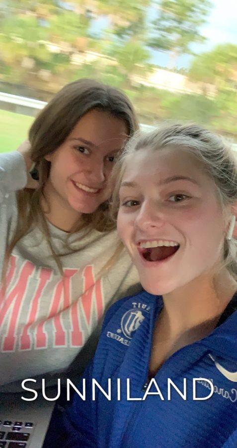 Carolina Housel (22) and Ava Polaszek (22)  were on the bus very excited to have arrived in Miami.