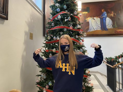 Sophomore Ally Smith is ready for Christmas Break.