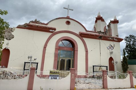 This historic building is Iglesia Inmaculada Concepción, which was founded in 1833, but destroyed by earthquakes.