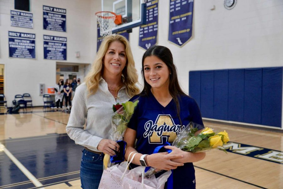 Angie Prince ('21) and her mom Kristine Prince celebrating Angie's 14th and final year at AHN and her 15th year dancing. Angie hopes to continue dancing next year at Villanova University.