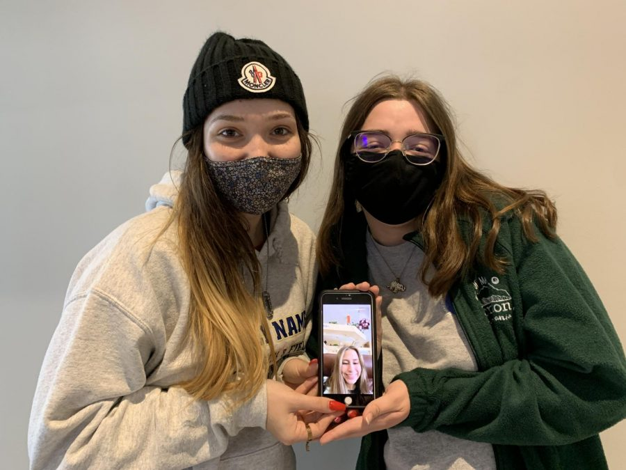 Left to right: Jayse Angel (21), Julia Urban (22), and Amelia Cuttle (21) were the three editors of the Beyond the Stars magazine.