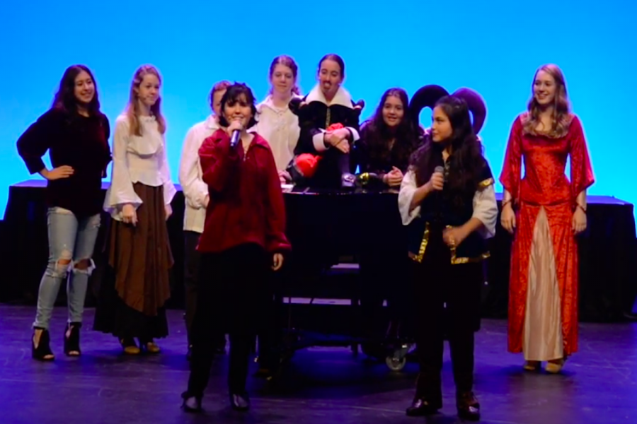 Every year, students are allowed to direct a program. This year, two juniors directed a Night of Shakespeare.